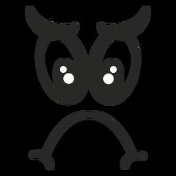 Trauriges Emoticon-Gesicht