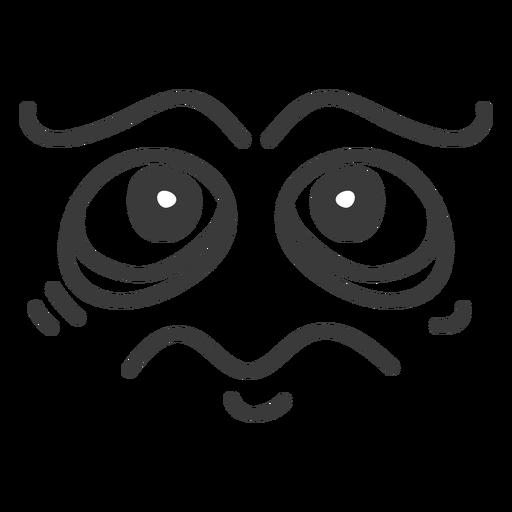 Desenhos Animados De Rosto Triste Emoticon Baixar Png Svg