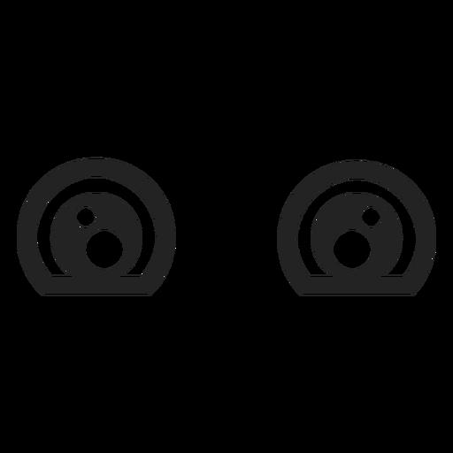 Traurige Kawaii-Emoticon-Augen Transparent PNG