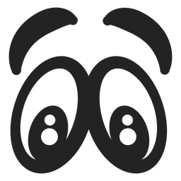 Ojos de emoticonos asustados