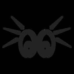 Olhos de emoticon chocados