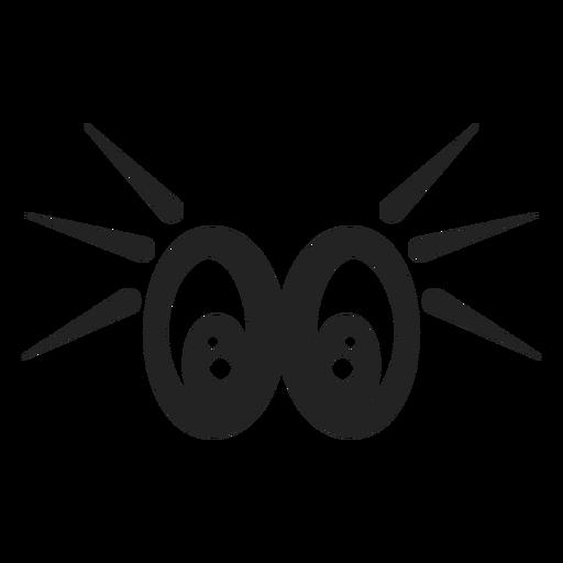 Shocked emoticon eyes Transparent PNG