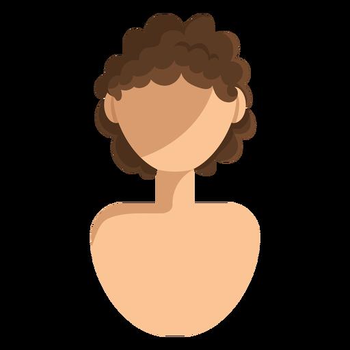 Ícone de cabelo curto e encaracolado Transparent PNG