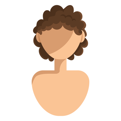 Short curly hair icon Transparent PNG