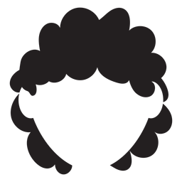 Short curly hair silhouette