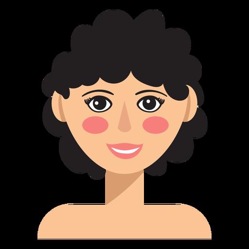 Mujer de pelo corto y rizado avatar Transparent PNG