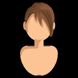 Icono de pelo barrido lado corto