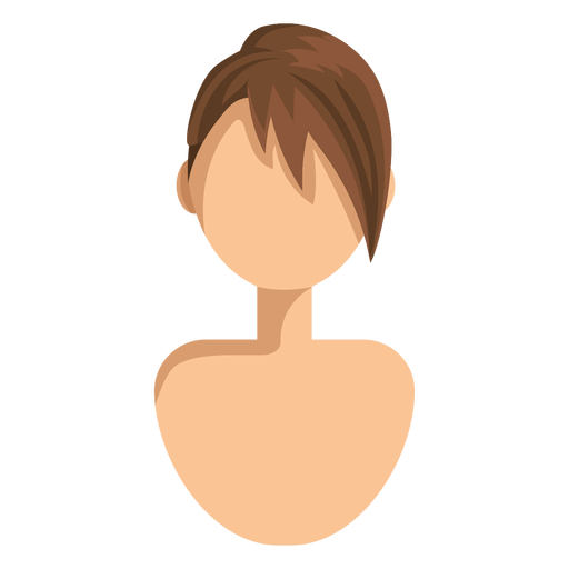 Short side swept hair icon Transparent PNG