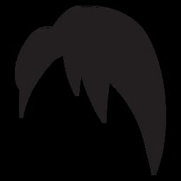 Short side swept hair silhouette