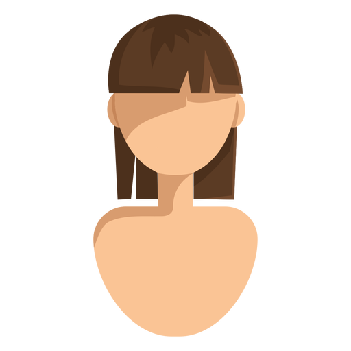 Ícone de cabelo curto corte em linha reta Transparent PNG