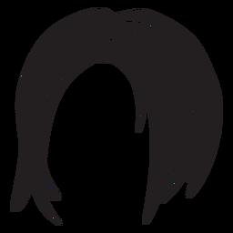 Icono de pelo corto de mujer