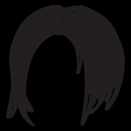 Ícone de cabelo curto mulher Transparent PNG