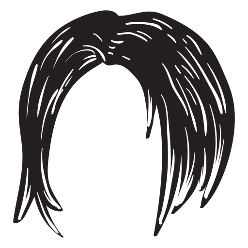 Icono de pelo corto de mujer Transparent PNG
