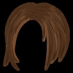Ilustración de pelo corto de mujer