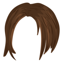 Short woman hair illustration