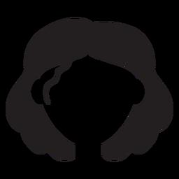 Silueta de mujer de pelo corto