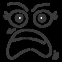 Dibujos animados de cara de emoticon gritando
