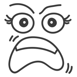 Shouting emoticon face cartoon