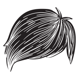 Ícone de cabelo de homens de franja lateral