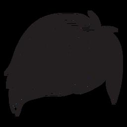 Icono de cabello de hombres de flecos laterales