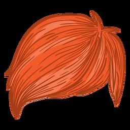 Ilustración de cabello de hombres de flecos laterales