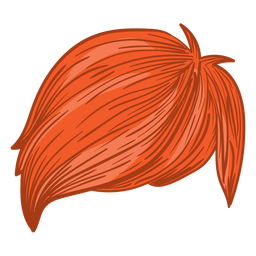 Side fringe men hair illustration