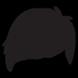 Side fringe men hair silhouette