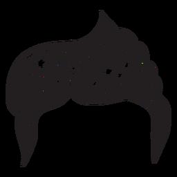 Seitenteilmenhaarhand gezeichnet
