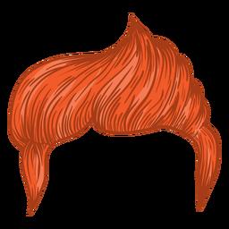 Lado parte homens cabelo ilustração