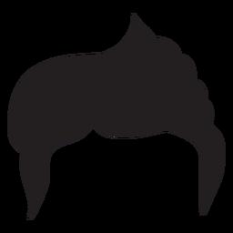Side part men hair silhouette