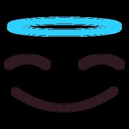 Einfaches Engel Emoticon Gesicht