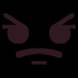 Cara de emoticon com raiva simples