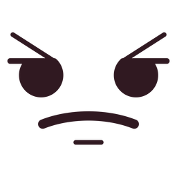 Simple angry emoticon face