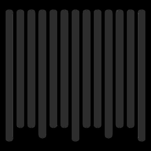 Simple barcode design Transparent PNG