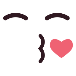 Einfacher Schlag Kuss Emoticon Gesicht