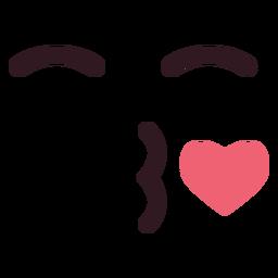 Simple blow kiss emoticon face