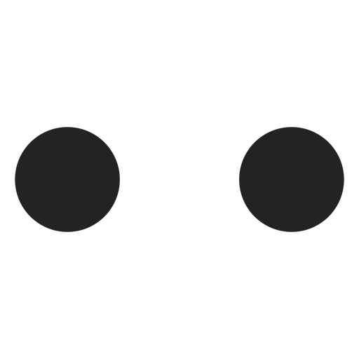 Simple circle emoticon eyes Transparent PNG