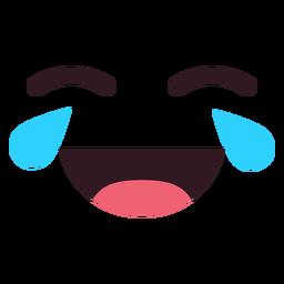 Einfaches schreiendes lachendes Emoticongesicht