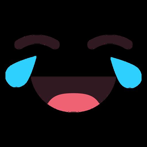 Simple llorando riendo cara de emoticon Transparent PNG