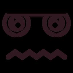 Cara de emoticon maçante simples