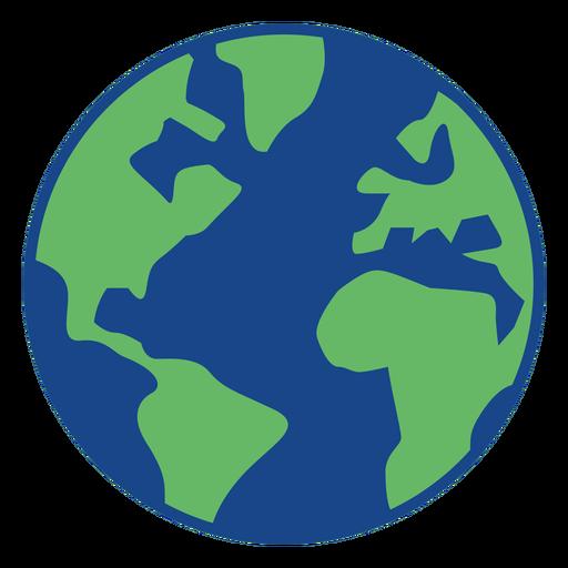 Ícone simples da terra Transparent PNG