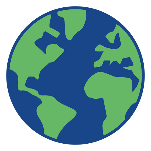 Simple earth icon Transparent PNG