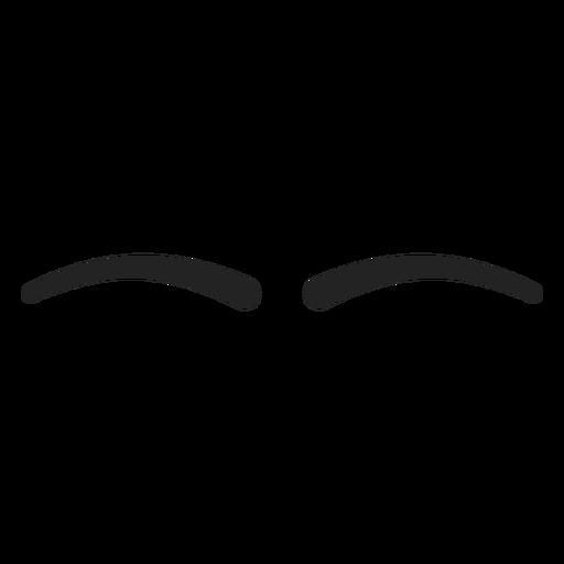 Emoticon simple de ojos cerrados. Transparent PNG