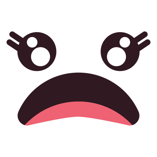 Simple female disappointed emoticon face Transparent PNG