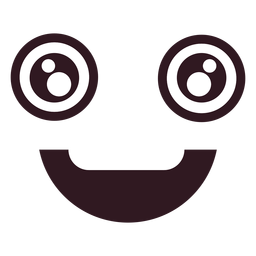 Cara de emoticon masculino feliz simple