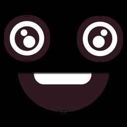 Cara de emoticon masculino feliz simples