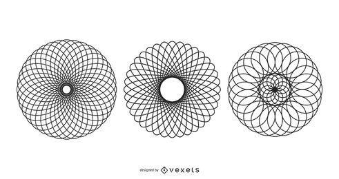 Vetores espiral elipsógrafo