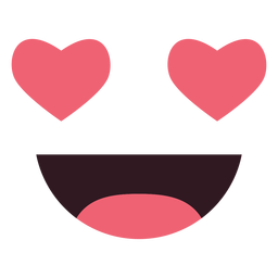 Simples face de emoticon inlove