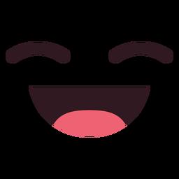 Einfaches lachendes Emoticongesicht