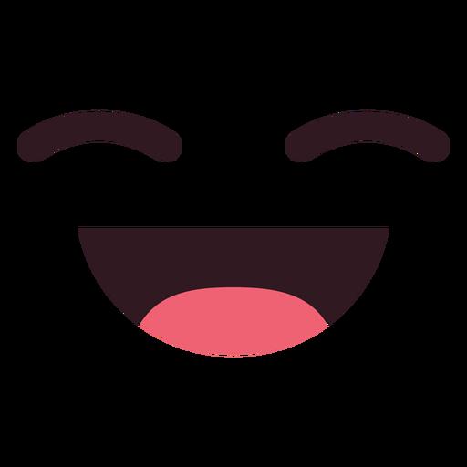 Rostro de emoticon risa simple Transparent PNG